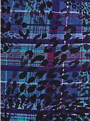 Sleep Romper - Super Soft Leopard Plaid Purple, MULTI, alternate