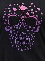 Sleep Tank - Skull Black & Pink, DEEP BLACK, alternate