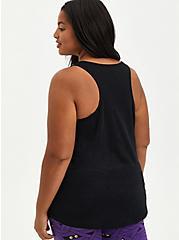 Plus Size Sleep Tank - Creep It Real Black, DEEP BLACK, alternate