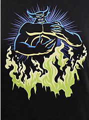 Sweatshirt - Fleece Disney Fantasia Chernabog Wings, DEEP BLACK, alternate