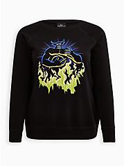 Sweatshirt - Fleece Disney Fantasia Chernabog Wings, DEEP BLACK, hi-res