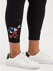 Crop Legging - Disney Fantasia Mickey & Magic Broom , DEEP BLACK, alternate