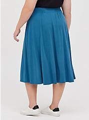 Button-Up Midi Skirt - Cupro Navy, MIDNIGHT, alternate