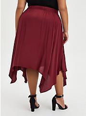 Midi Skirt - Challis Handkerchief Burgundy, ZINFANDEL, alternate
