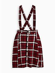 Plus Size Skirtall - Challis Plaid Burgundy , PLAID - RED, hi-res