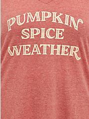 Girlfriend Tee - Signature Jersey Pumpkin Spice Weather Rusty Brown, RUST, alternate
