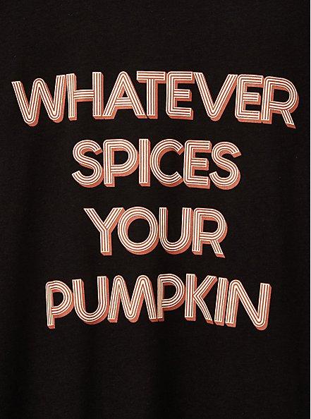 Classic Fit Raglan Tee - Whatever Spices Your Pumpkin Black, DEEP BLACK, alternate