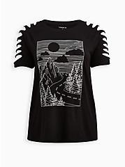 Slash Tee - Foil Landscape Black, DEEP BLACK, hi-res