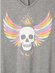 Favorite Tunic - Super Soft Grey Skull Wings, MEDIUM HEATHER GREY, alternate