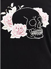 Off Shoulder Sweatshirt - Skull Black , DEEP BLACK, alternate