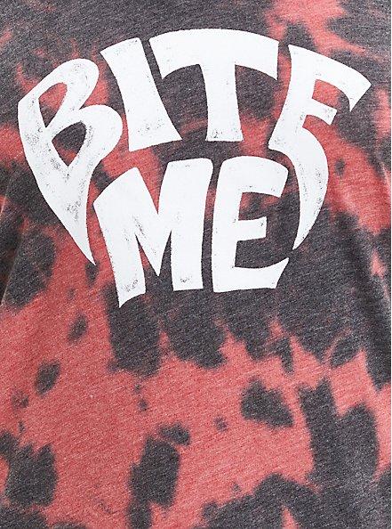Girlfriend Tee - Signature Jersey Red Tie Dye Bite Me, RED, alternate
