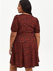 Skater Mini Dress - Knit Heart Black, HEARTS - BLACK, alternate