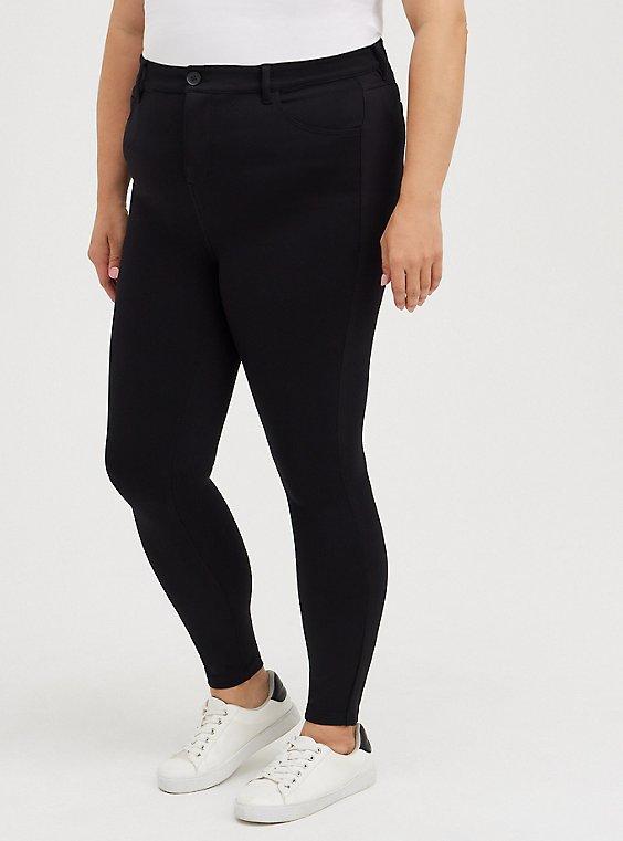 Mid Fit Skinny Pant - Ponte Black, DEEP BLACK, hi-res