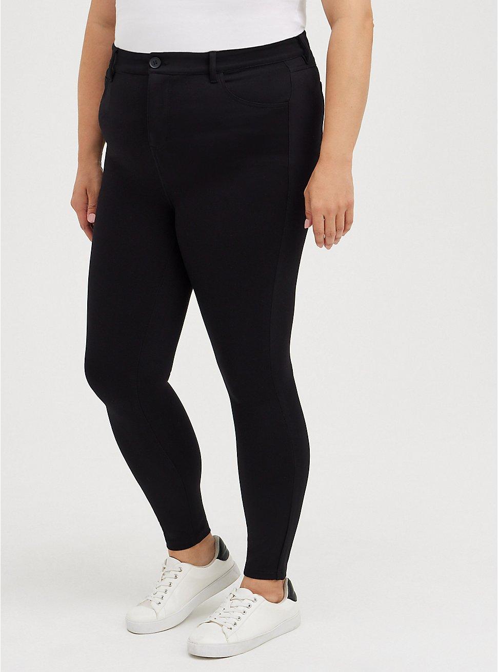 MidFit Skinny Pant - Luxe Ponte Black, DEEP BLACK, hi-res