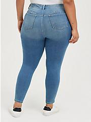 Bombshell Skinny Jean - Knit Denim Medium Wash, MARITIME, alternate