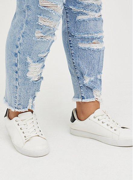 High Rise Straight Jean - Classic Denim Medium Wash, ROAD RUNNER, alternate