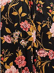 Black Floral Challis Walk Through Maxi Dress, FLORAL - BLACK, alternate