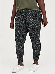 Plus Size Premium Legging - Skull Damask Print, MULTI, alternate