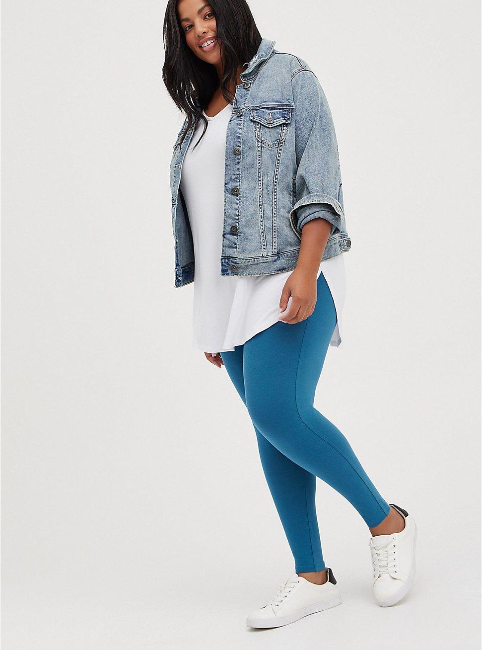 Plus Size Premium Legging - Midnight Blue, BLUE, hi-res