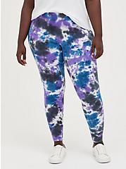 Premium Legging - Pour Tie Dye Blue, TIE DYE, alternate
