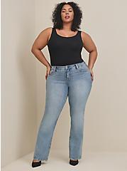 Mid Rise Slim Boot Jean - Classic Denim Medium Wash, STRAIGHT UP, alternate
