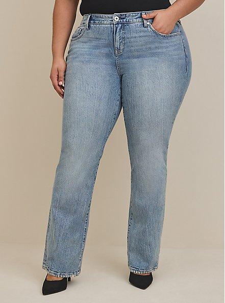 Mid Rise Slim Boot Jean - Classic Denim Medium Wash, STRAIGHT UP, hi-res