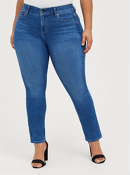 Bombshell Straight Jean - Premium Stretch Eco Medium Wash, CHELSEA, alternate