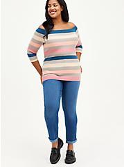 Plus Size Bombshell Straight Jean - Premium Stretch Eco Medium Wash, CHELSEA, alternate
