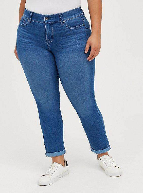 Bombshell Straight Jean - Premium Stretch Eco Medium Wash, CHELSEA, hi-res