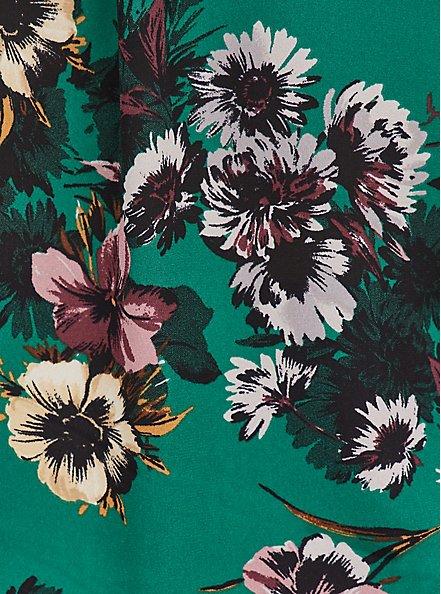 Plus Size Harper Pullover Blouse - Georgette Floral Green, FLORAL - GREEN, alternate
