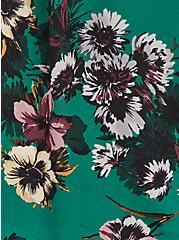 Harper Pullover Blouse - Georgette Floral Green, FLORAL - GREEN, alternate