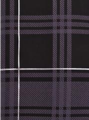 Harper - Georgette Plaid Black Pullover Blouse, PLAID - BLACK, alternate