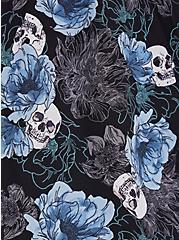 Plus Size Pintuck Blouse - Georgette Floral Skull Black, SKULL FLORALS-BLACK, alternate