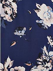 Hi-Lo Halter Tunic - Georgette Floral Blue , FLORAL - BLUE, alternate