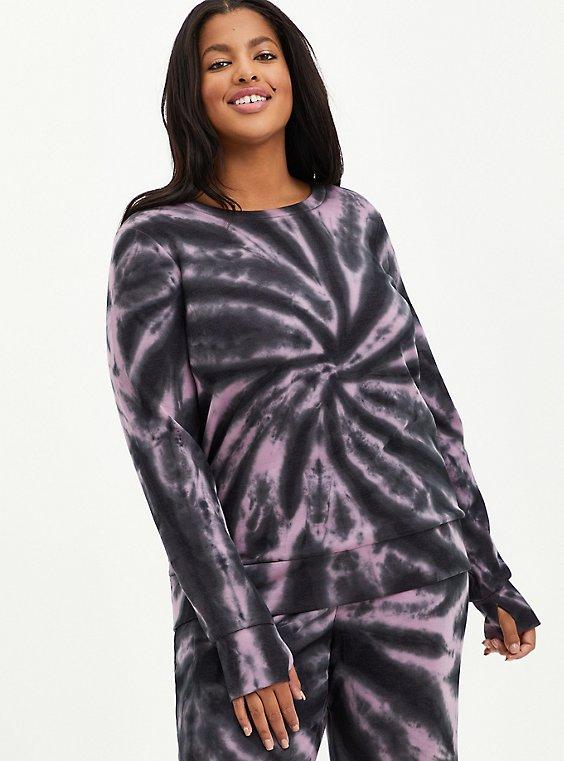 Active Sweatshirt - Cupro Tie Dye Grey , TIE DYE, hi-res