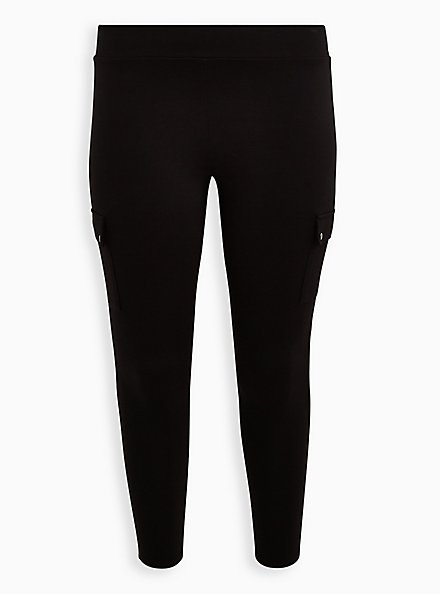 Cargo Platinum Legging - Ponte Black, BLACK, hi-res