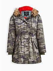 Fur-Lined Parka - Camo, MULTI, hi-res