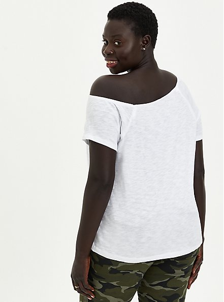 Off Shoulder Tee - Heritage Slub White, BRIGHT WHITE, alternate