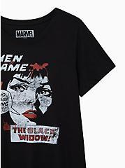 Slim Fit Crew Tee – Black Widow Black, DEEP BLACK, alternate