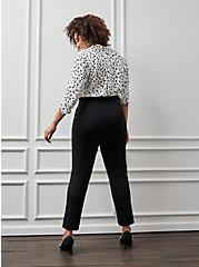 Plus Size Pull On Tapered Pant - Luxe Ponte Black, DEEP BLACK, alternate
