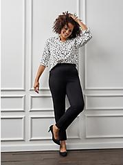 Plus Size Pull On Tapered Pant - Luxe Ponte Black, DEEP BLACK, hi-res