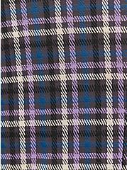Plus Size Double Knit Blazer - Plaid Purple, PLAID - PURPLE, alternate