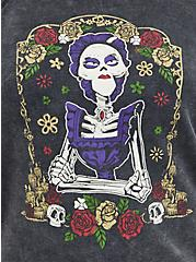 Disney Coco Sweatshirt - Mama Shrine Mineral Wash Black, DEEP BLACK, alternate