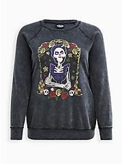 Disney Coco Sweatshirt - Mama Shrine Mineral Wash Black, DEEP BLACK, hi-res