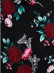 Hoodie Tee - Super Soft Floral Black, MULTI FORAL, alternate