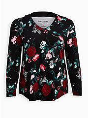 Hoodie Tee - Super Soft Floral Black, MULTI FORAL, hi-res