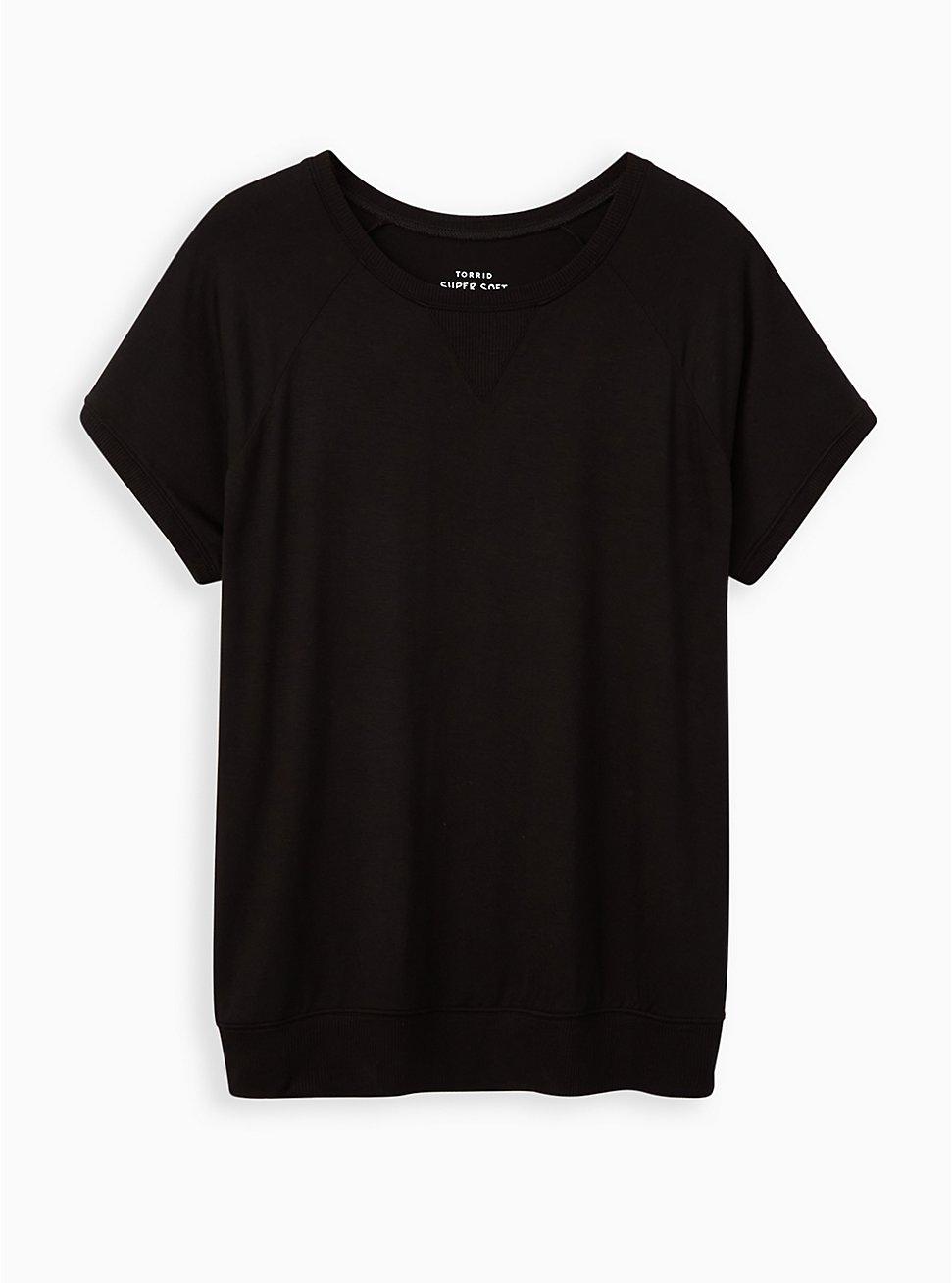 Plus Size Raglan Tee - Super Soft Black, DEEP BLACK, hi-res