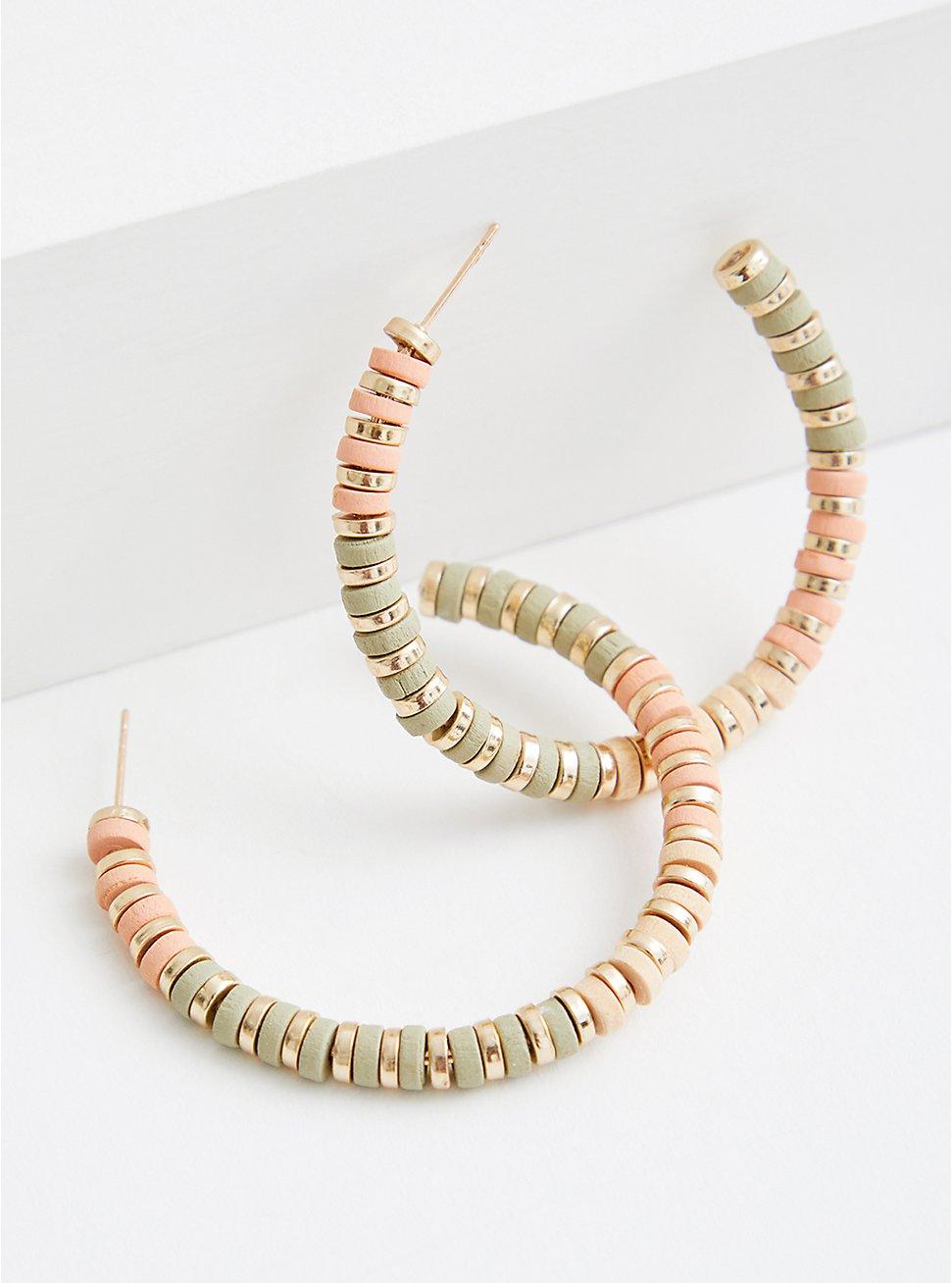 Coral Textured Hoop, , hi-res
