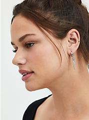 Small Hanging Earring Trio - Silver Tone, , alternate