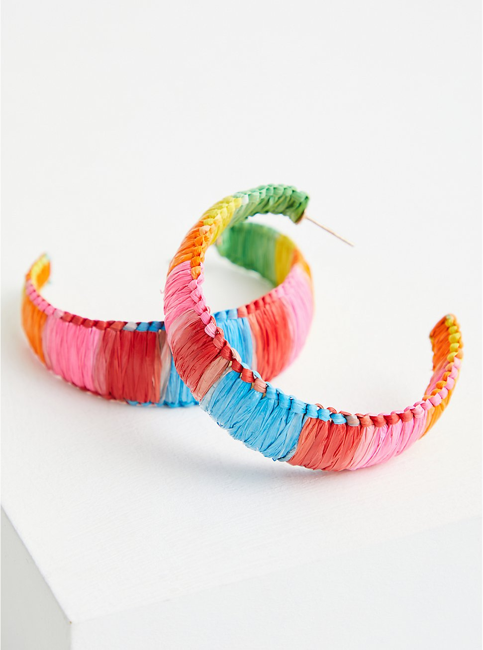 Bright Straw Wrapped Hoop, , hi-res